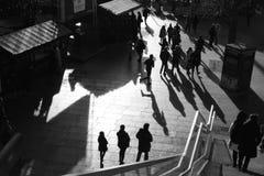 阴影伦敦人群  免版税库存图片