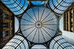 那不勒斯-翁贝托一世画廊在那不勒斯,拿坡里,意大利 免版税库存照片