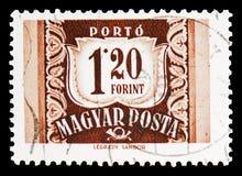 邮费应得物,serie,大约1965年 免版税库存照片