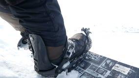 雪板用拉锁拉上起动 股票视频