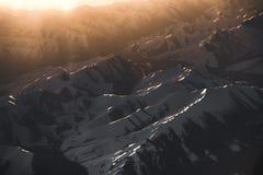 雪莱赫拉达克区,印度的酷寒北风零件山景城  免版税库存照片