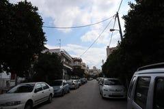 雅典neighboorhood在春天 库存图片