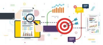 逻辑分析方法和战略在金融市场上 向量例证