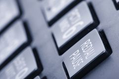 通信、联络我们和客服服务支持被定调子的图象的拨的电话键盘概念 免版税库存图片