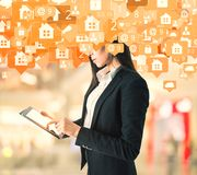 通信和应用概念 向量例证