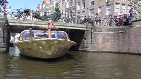 通过阿姆斯特丹运河  股票录像