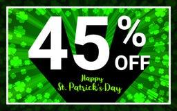 45%销售愉快的StPatrick天 库存例证