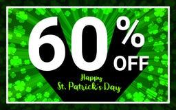 60%销售愉快的StPatrick天 向量例证