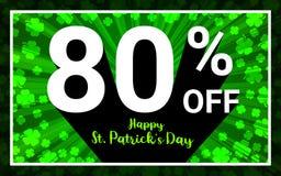 80%销售愉快的StPatrick天 向量例证