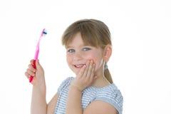 É agradável limpar meus dentes Imagens de Stock