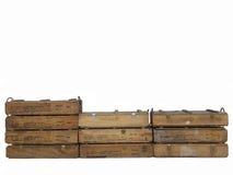 É caixas de madeira Fotos de Stock