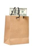 É dinheiro no saco Fotos de Stock Royalty Free