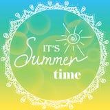 É horas de verão Foto de Stock