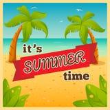 É horas de verão Imagem de Stock