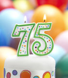 É meu 75th aniversário Fotos de Stock Royalty Free