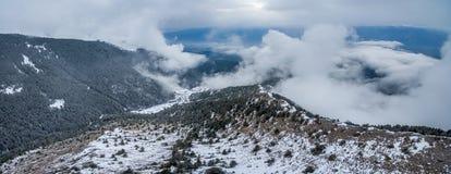 É realmente agradável sair na montanha Imagem de Stock