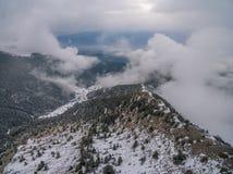 É realmente agradável sair na montanha Foto de Stock
