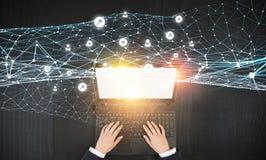 É trabalhos em rede e comércio eletrónico Imagem de Stock Royalty Free