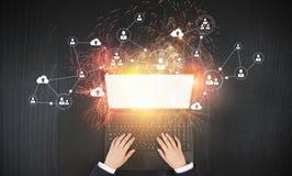 É trabalhos em rede e comércio eletrónico Imagens de Stock Royalty Free