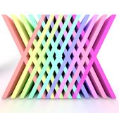 É um arco-íris 3d ilustração royalty free