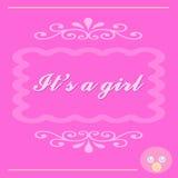 É um cartão do bebé Imagens de Stock Royalty Free