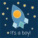 É um cartão do menino Fotos de Stock Royalty Free