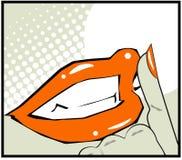 É um cartaz retro do vintage da ilustração dos bordos do pop art do segredo Imagens de Stock