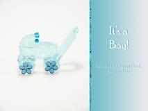 É um menino - cartão novo do anúncio do bebê Foto de Stock Royalty Free