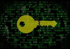 É um símbolo de uma chave digital errada Foto de Stock Royalty Free