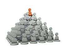É uma estrutura da pirâmide, grau do poder Representa a estrutura da organização ilustração royalty free