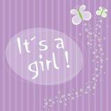 É uma menina! foto de stock royalty free