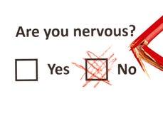 É você nervoso? Imagem de Stock