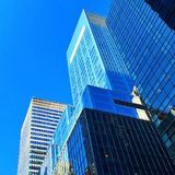 Éblouissement Manhattan bleue Image libre de droits