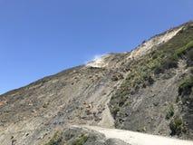 Éboulement actif Big Sur la Californie 1 hwy de crique de boue Photographie stock