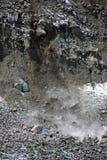 Éboulement et automne de roche Photographie stock