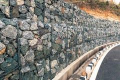 Éboulements de roche au mur Photos libres de droits