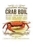 Ébullition de crabe de collection de culture de la Nouvelle-Orléans illustration stock
