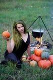 Ébullitions de breuvage magique de sorcière Photographie stock