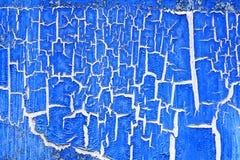 Écaillement de la peinture bleue image stock