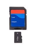 écart-type micro de mémoire de carte Images stock