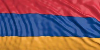 Écartement du drapeau de l'Arménie illustration 3D Photo stock