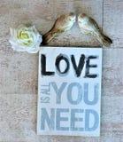 Écartez l'amour et la paix autour du monde sur le Saint Valentin et le Noël Images stock