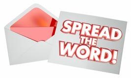 Écartez l'enveloppe de note de message de lettre de Word Photos libres de droits