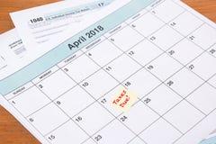 Échéance de 2017 impôts Images libres de droits