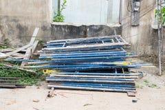 Échafaudage à un chantier de construction Photo stock