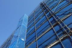 Échafaudage de chantier de construction Image stock