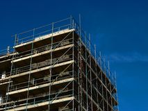 Échafaudage de construction Images stock