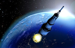 Échafaudage de Rocket illustration libre de droits