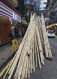 Échafaudage en bambou à Hong Kong Photos libres de droits