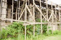 Échafaudage en bois Photos stock